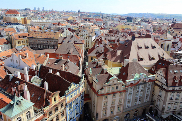 Prague, view from the Clock tower