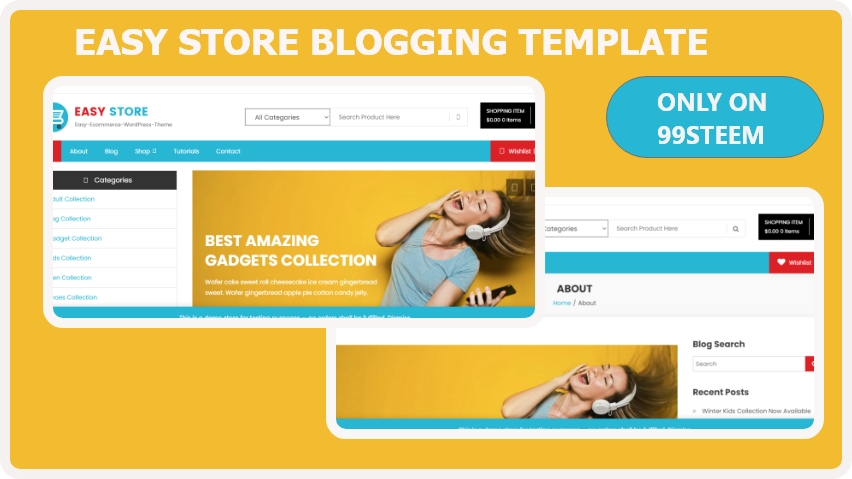 Easy Store blogger template