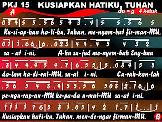 PKJ.015 KUSIAPKAN HATIKU, TUHAN