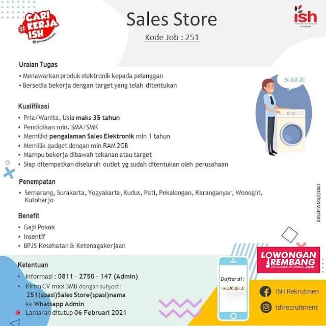Lowongan Kerja Sales Store Infomedia Solusi Humanika Semarang Surakarta Yogyakarta Kudus Pati Pekalongan Karanganyar Wonogiri Kutoharjo1