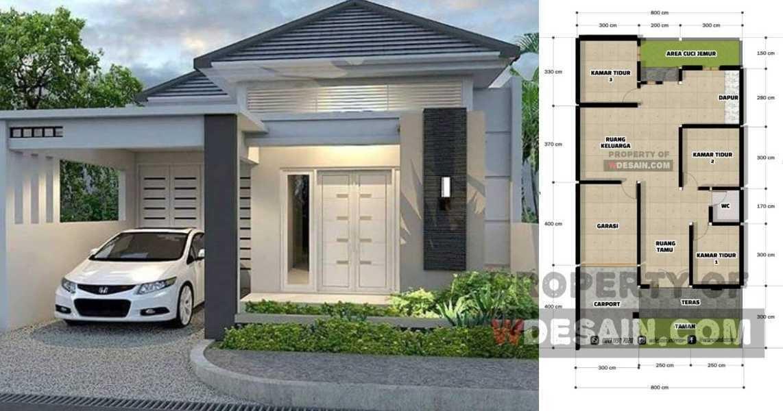 Desain Rumah 8x15 3 Kamar 1 Lantai Desain Rumah Minimalis