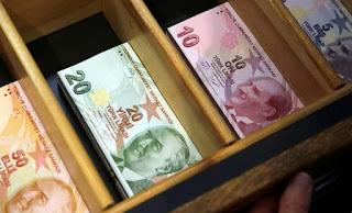 سعر صرف الليرة التركية يوم الجمعة مقابل العملات الرئيسية 24/4/2020