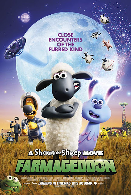 Photo: movie poster for Netflix's 2019 animated film A Shaun the Sheep Movie: Farmageddon
