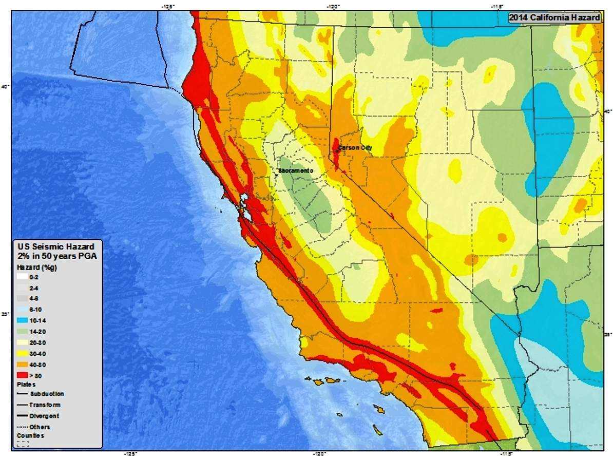 California Should Have Had A Major Earthquake By Now Geologists Warn - Seismic-map-of-us