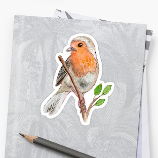 robin bird sticker