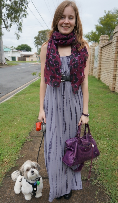 87f08d38f6e5 Away From Blue | Aussie Mum Style, Away From The Blue Jeans Rut: Scarf,  Boots, Grey Maxi Dress, Balenciaga City | Tee, Red Skinny Jeans, Chloe  Cross Body ...