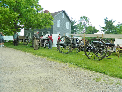 Line of cannons