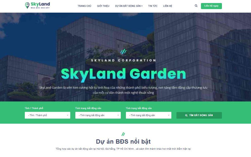 Template blogspot bất động sản Skyland