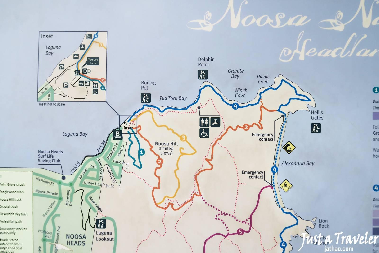 布里斯本-陽光海岸-努沙-Noosa-努沙海灘-努沙國家公園-地圖-Map-一日遊-二日遊-遊記-景點-住宿-Main-Beach-National-Park-Sunshine-Coast