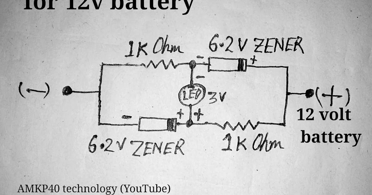Battery Low Indicator Circuit For 12 Volt Battery Circuit