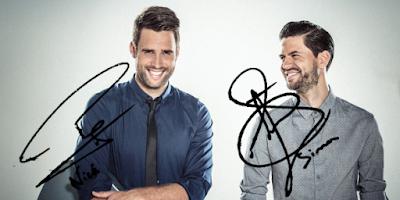Handtekeningen Nick en Simon