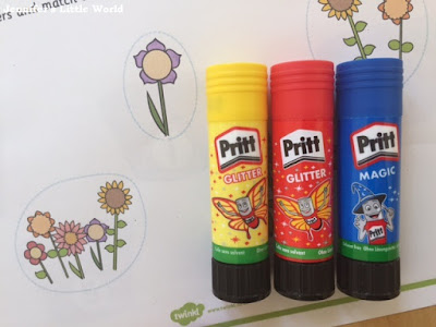 Crafting with Pritt products and Twinkl resources