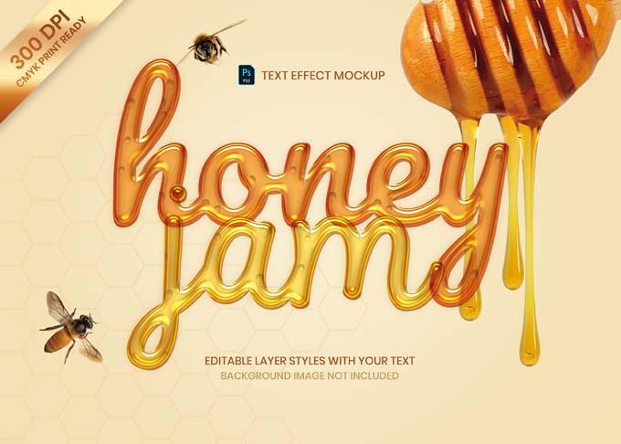 Liquid Honey Jam Text Effect PSD Mockup
