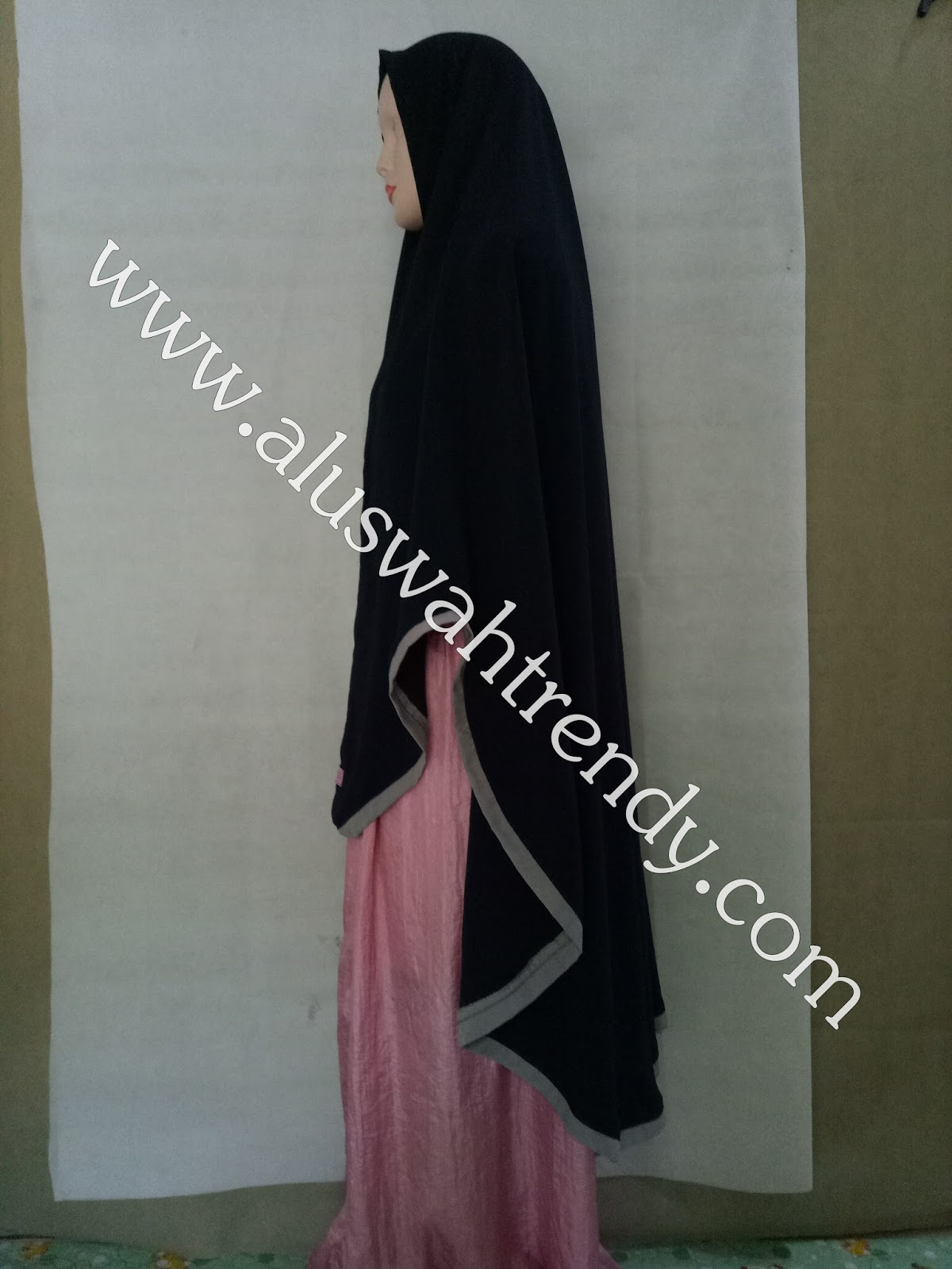 Jilbab Khimar Instan Warna Hitam 30