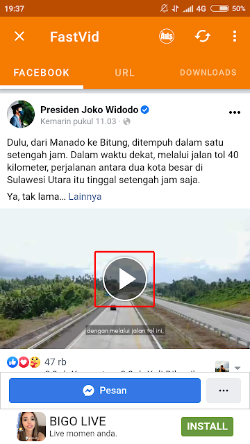 cara download video dari facebook di hp android 9