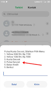 Cara Meminjam Pulsa Indosat via Dial Up