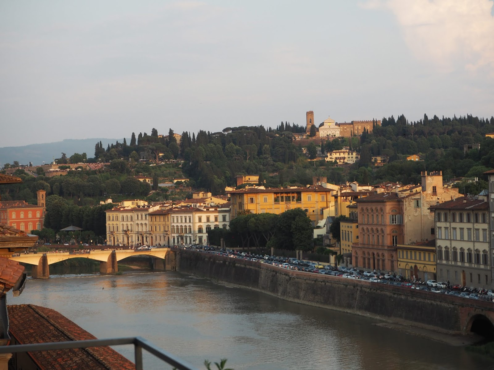 summer evening in florence