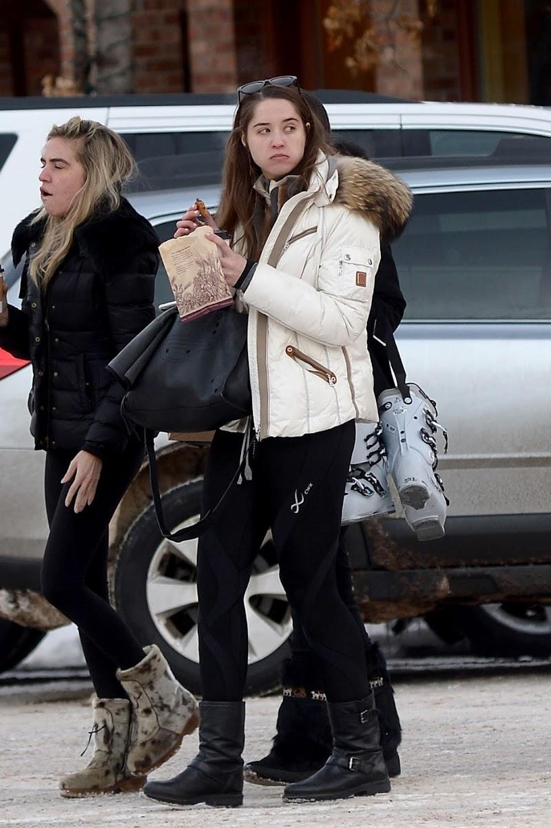 Christina Schwarzenegger Clicked  Outside in Aspen 29 Dec-2019