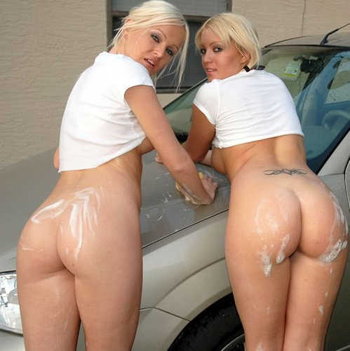 wash girls car Naked nude