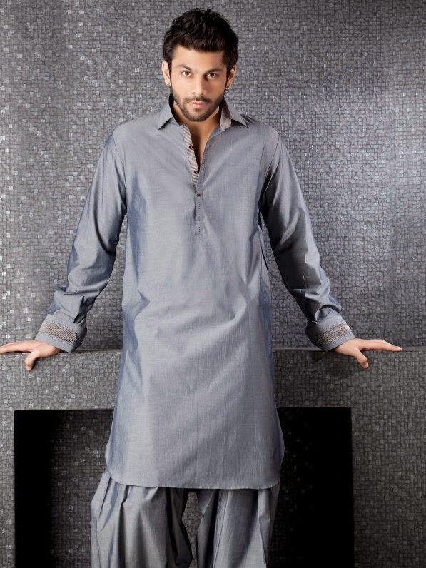 Pakistani Salwar Kameez Designs For Men 2014 Latest Images