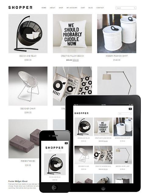 Theme WordPress thời trang miễn phí Shopper