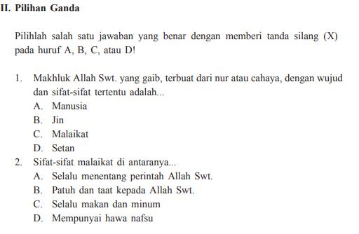 Jawaban PG Evaluasi Bab 7 Halaman 103 PAI Kelas 7 (Ingin ...
