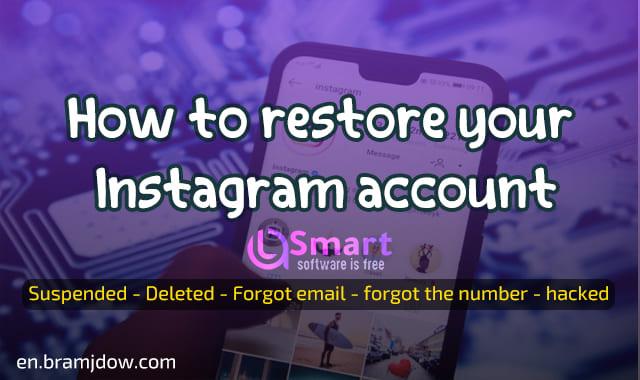 restore instagram account