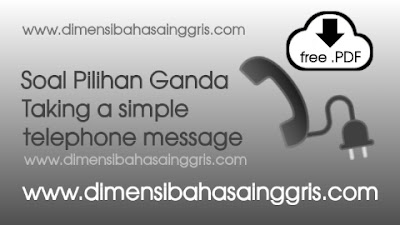 DBI - Soal PG taking and leaving simple telephone message