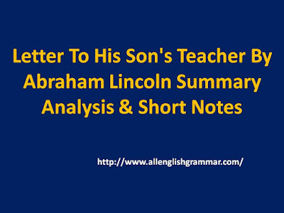 Letter-To-His-Son's-Teacher-By-Abraham-Lincoln-Summary