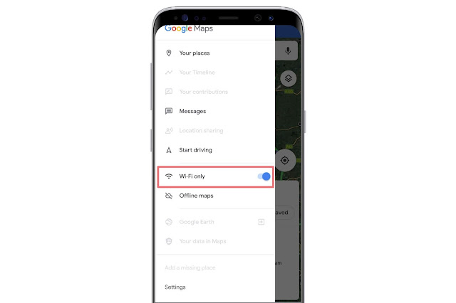WiFi Only Mode On Google Maps