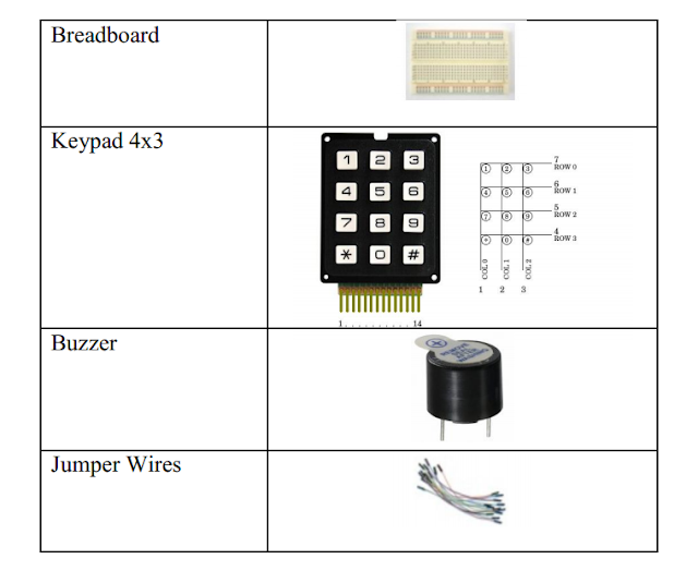 Keypad and Buzzer Component