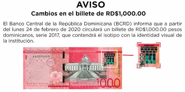 Banco Central presenta un nuevo billete de mil pesos