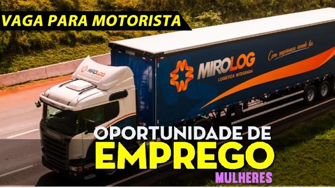 Transportadora Miro Log abre vagas para motorista carreteiro