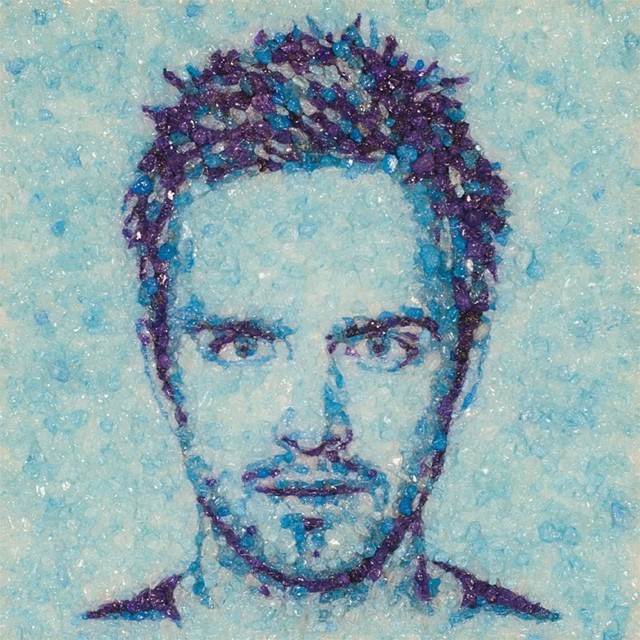 06-Breaking-Bad-Aaron-Paul-Jason-Mecier-Paintings-or-Sculptures-in-Portrait-Collage-www-designstack-co