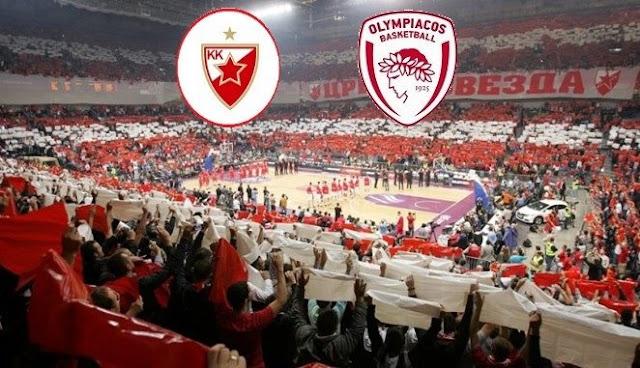 ΕΡΥΘΡΟΣ ΑΣΤΕΡΑΣ - ΟΛΥΜΠΙΑΚΟΣ   Crvena Zvezda vs Olympiacos     live streaming