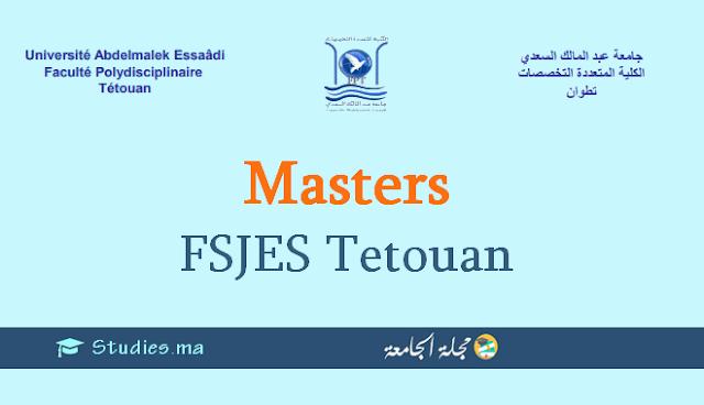 ماسترات كلية العلوم القانونية والإقتصادية والاجتماعية بتطوان Masters FSJES Tetouan