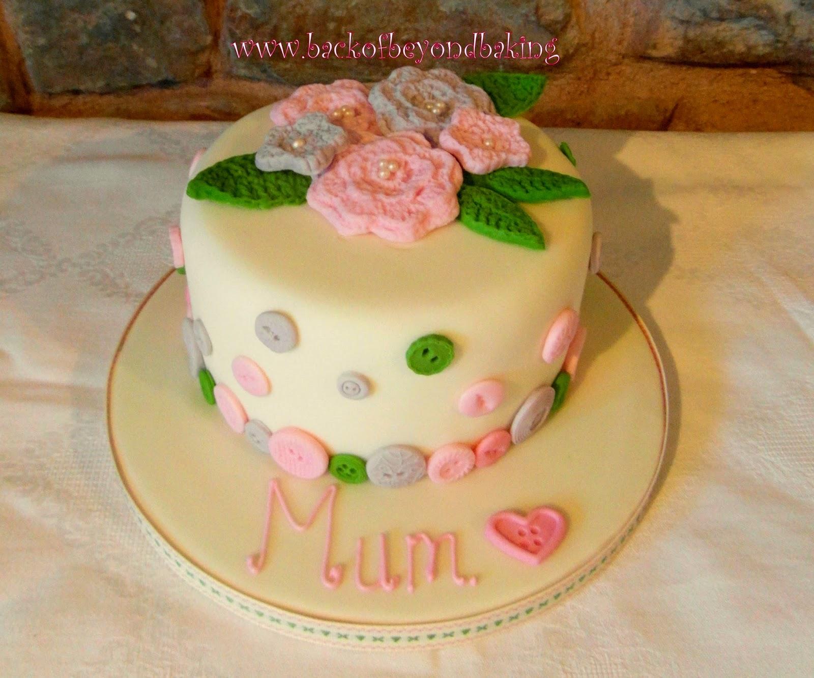 Crochet flower cake