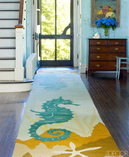 Coastal Runner Rugs Entryway Decor Ideas