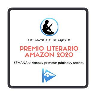 Logo del Premio Literario Amazon 2020. Seguimiento en Cruce de Caminos Semana 0