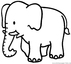 Cute Of Elephant Coloring Pages Ideas