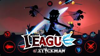تحميل لعبة League of Stickman مدفوعة ومهكره