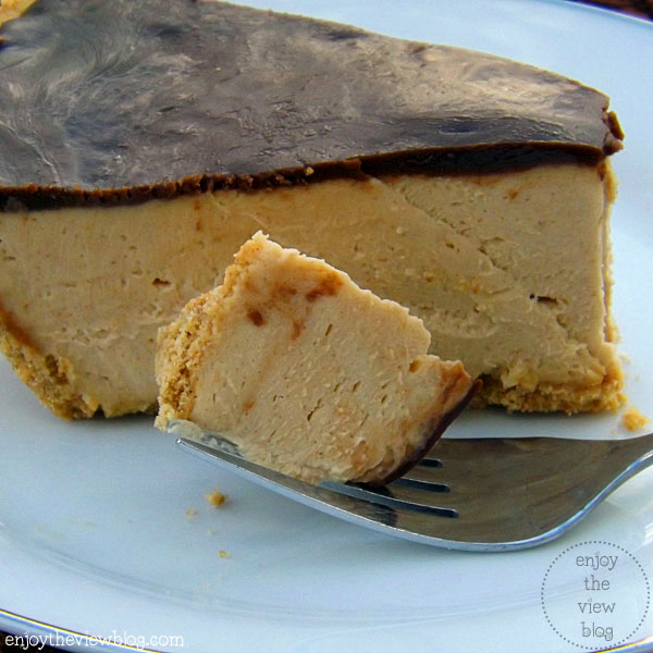 peanut butter pie on a plate
