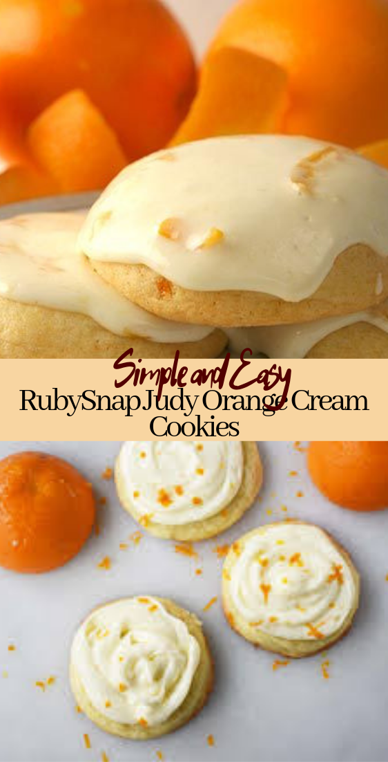 RubySnap Judy Orange Cream Cookies #desserts #cakerecipe #chocolate #fingerfood #easy