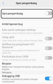 mode pengembang android
