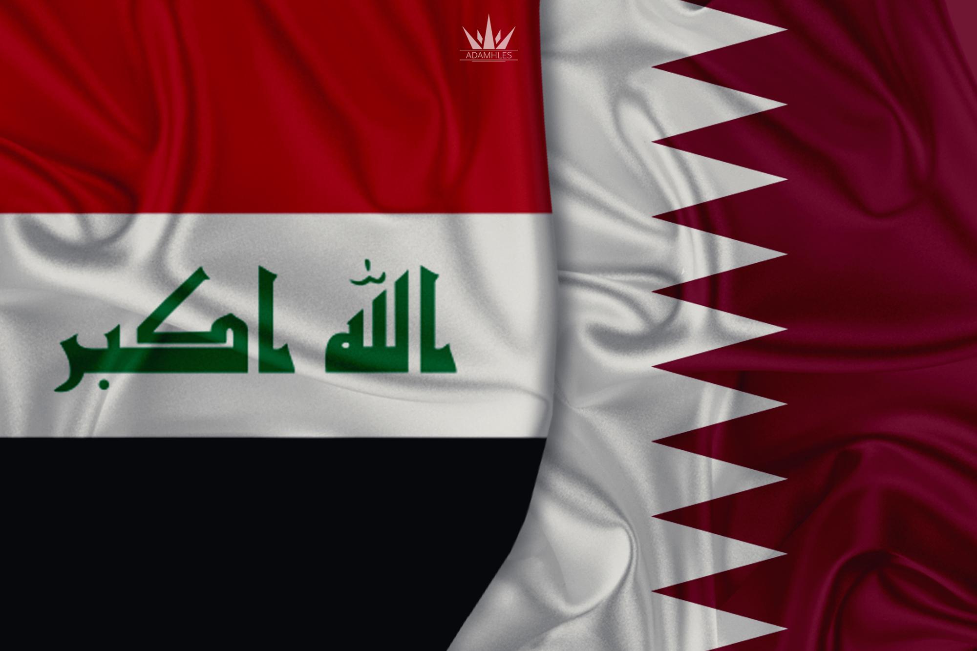خلفية علم العراق وقطر اجمل خلفيات العلم العراقي والعلم القطري Iraq and Qatar