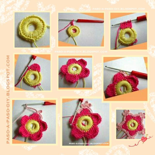 Cómo hacer una flor tejida fácil y rápido