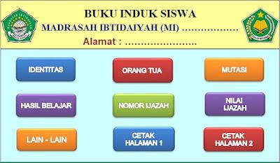 File Pendidikan Unduh, Download Aplikasi Buku Induk Kurikulum 2013 Madrasah Ibtidaiyah (MI)