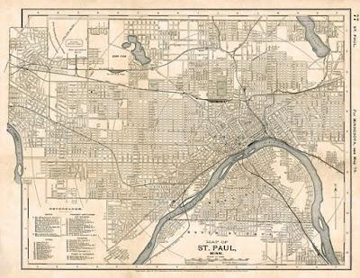 Saint Paul Minnesota 1891 mappa