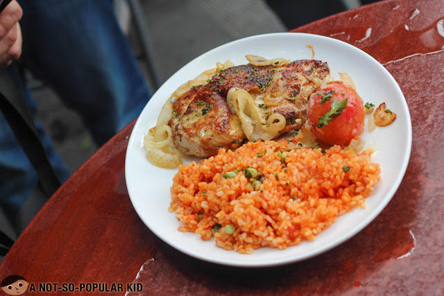Chuletas de Pollo con Arroz Mejicano of Cafe Havana