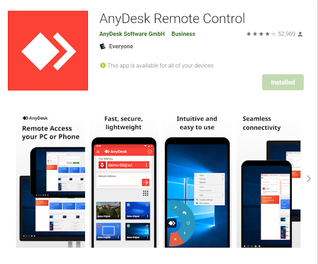 turn your mobile phone into a security camera using anydesk app